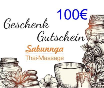 100 Euro Gutschein von Sabunnga Thaimassage