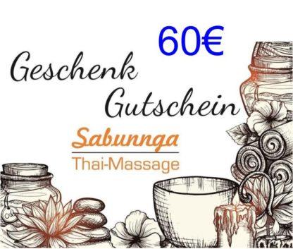 60 Euro Gutschein von Sabunnga Thaimassage