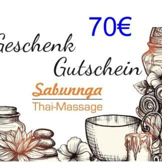 70 Euro Gutschein von Sabunnga Thaimassage